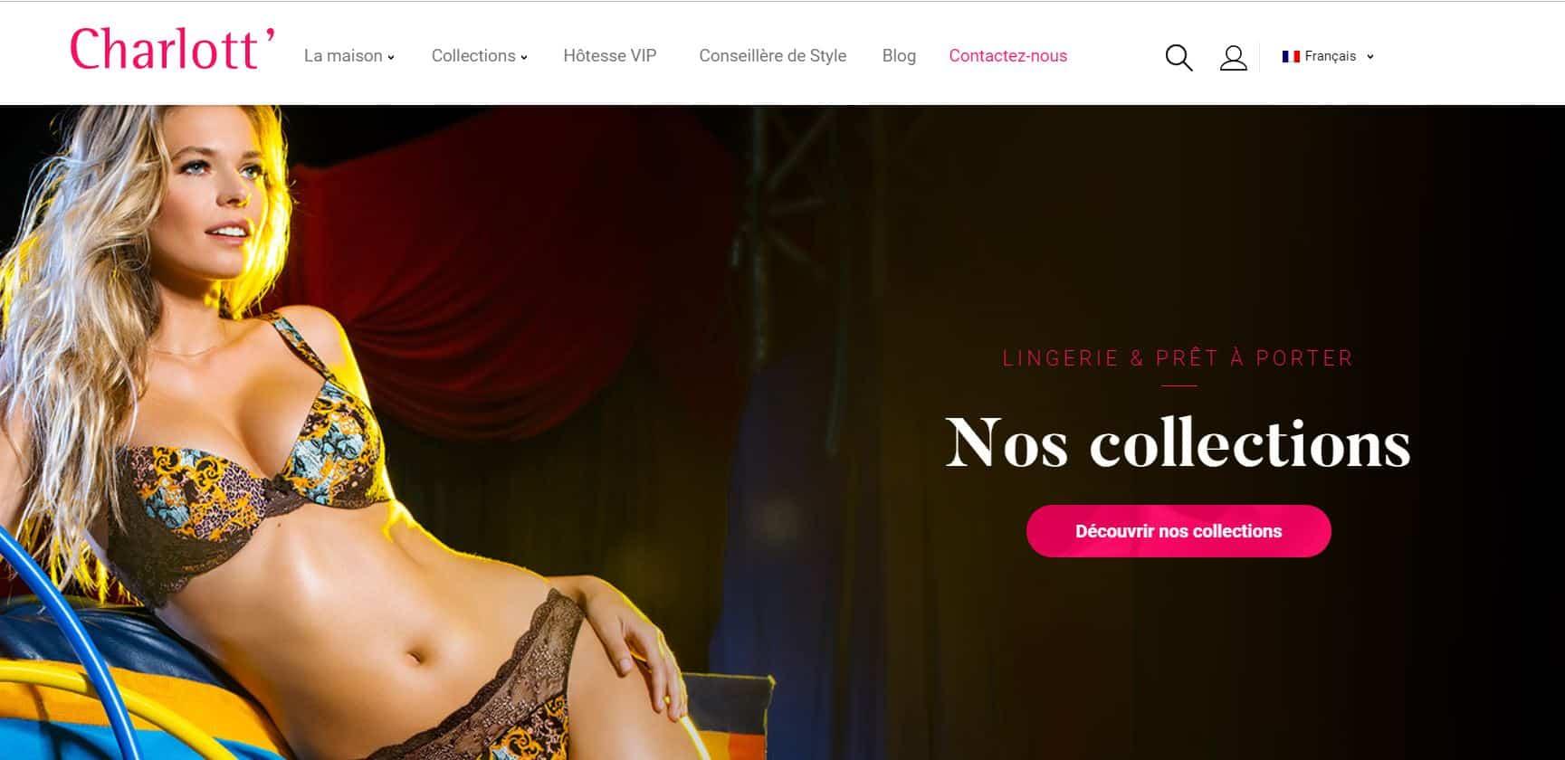 meilleur site charlott lingerie