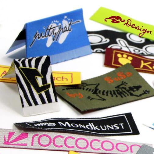 etiquettes avec logo pour vêtements